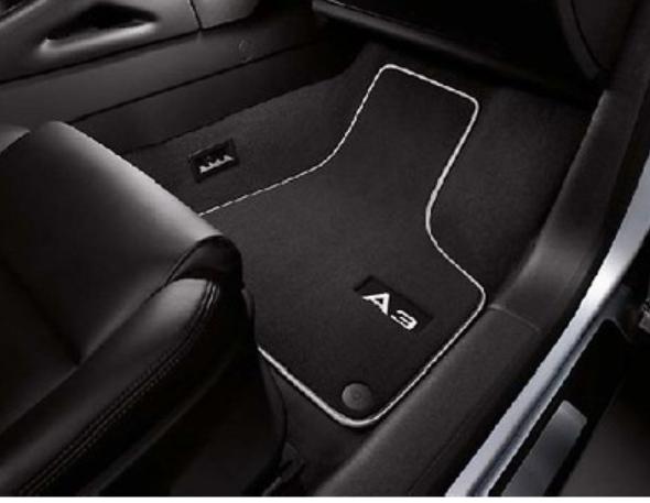 Textilfußmatten Premium vorn für Audi A3 8P ab Baujahr 2008