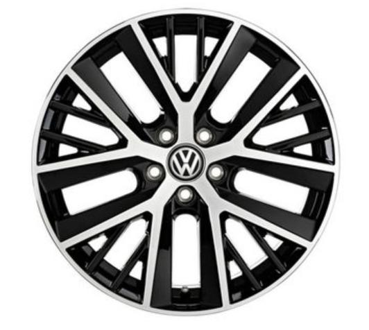 Original VW Alufelgen Twinspoke 19 Zoll schwarz Golf 7 Golf 7 Variant Golf 7 GTI - 1 Stück