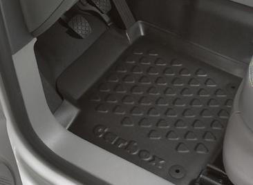 Original VW Caddy Gummi Fußmatte in Schalenform, Neu, links ,Fahrerseite 2K106116171N