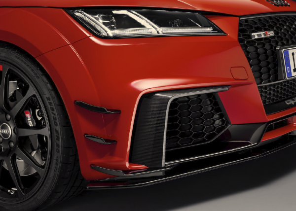Audi Sport TTRS Performance Luftleit Flaps vorne links und rechts glanz schwarz