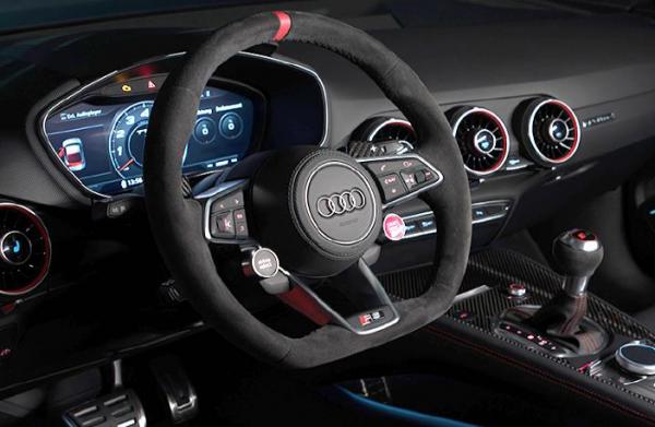 Audi Sport TTRS Lenkrad Alcantara -12Uhr Markierung 2-Satell.NEU-Aktionspreis