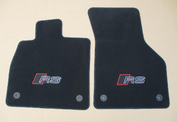 Audi TTRS original RS Matten Fußmatten Veloursmatten Stoffmatten vorne NEU