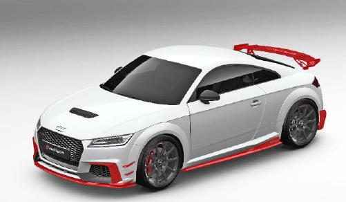 Audi Sport TTRS Performance Aerokit Carbon / schwarz glänzend - RED-Linning (Variante 1)