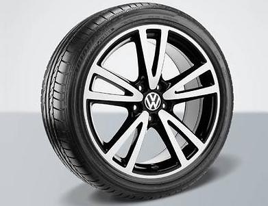 Original VW Alufelgen Felgen Vision 17 Zoll Golf 5 6 Plus - 4 Stück