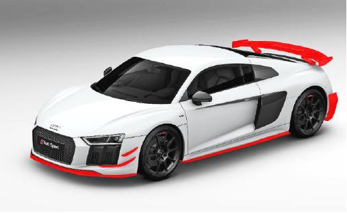 Audi Sport R8 Coupe Performance Aerokit Carbon / schwarz glänzend (Variante 1)-Copy